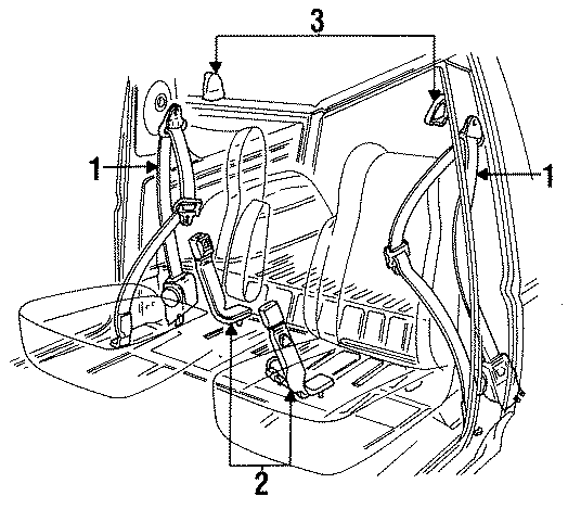 F4tz9861203c Ford Buckle Seat Belt Assembly W Bucket