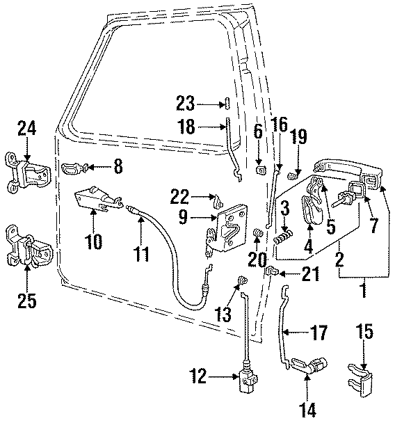 Ford F-150 Rod  Bushing  Clip