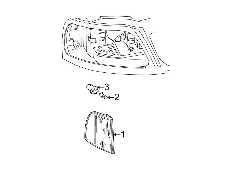 f75z13201ac ford parking light assembly lamps left. Black Bedroom Furniture Sets. Home Design Ideas