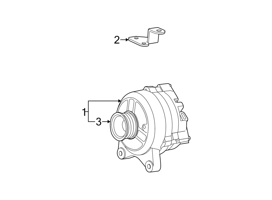 1998 Ford F-150 Alternator Bracket. 1997-07, GAS ENGINE, 4 ...