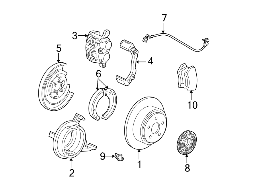 1999 ford plate  support  backing  brake  brakes  suspension
