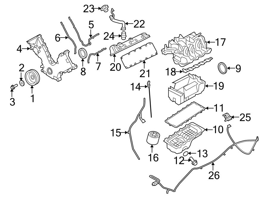 2l1z6p013aa - Ford Intake Manifold Insulator  Shield