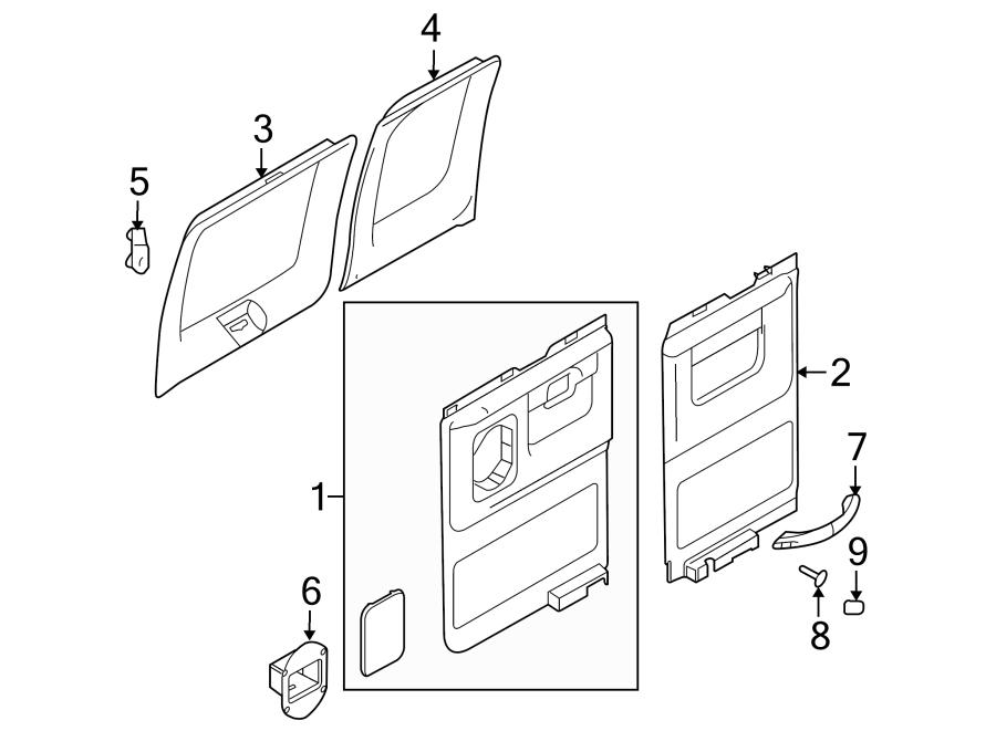 ford e-250 door window molding clip  retainer