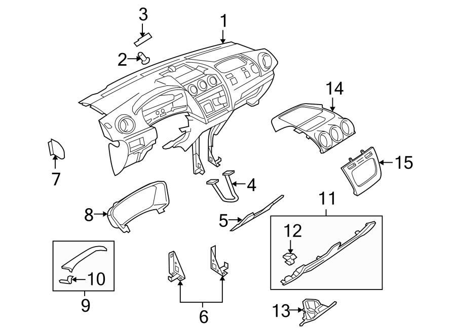 2014 Ford C Max Center Bezel Clip Center Cover Clip