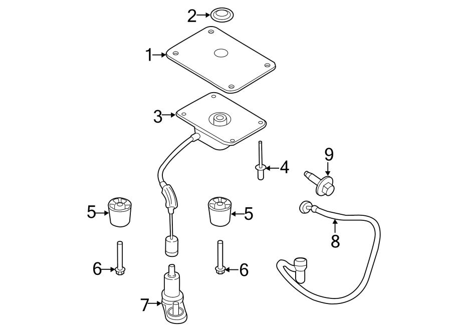 Ford Transit Connect Spare Tire Hoist Insulator  Wheelbase