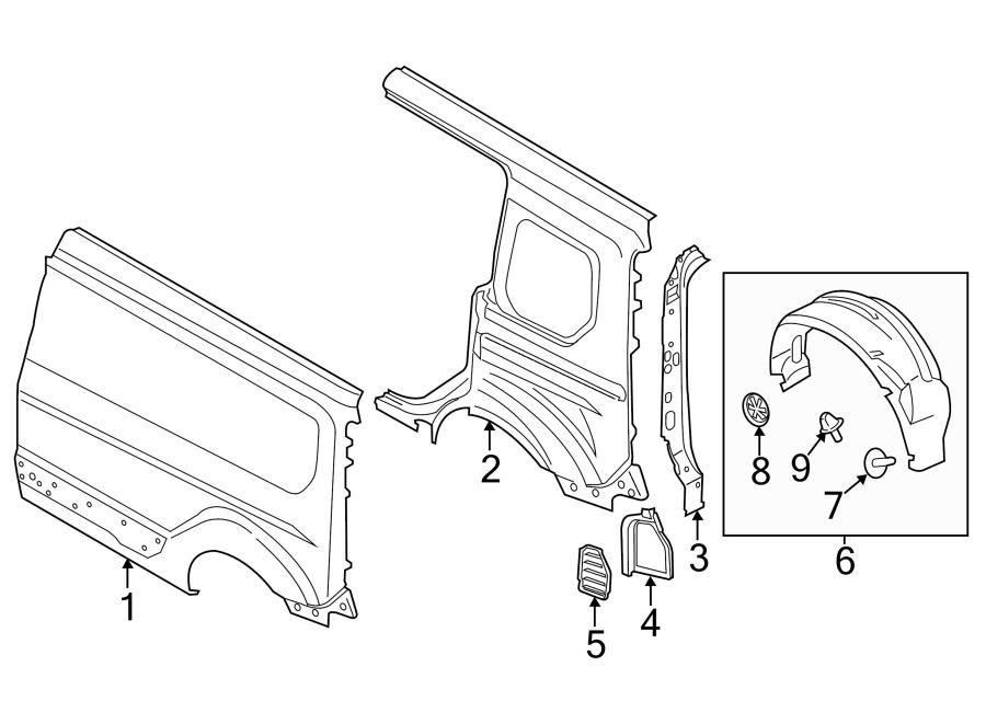 ford fiesta rear bumper parts diagram
