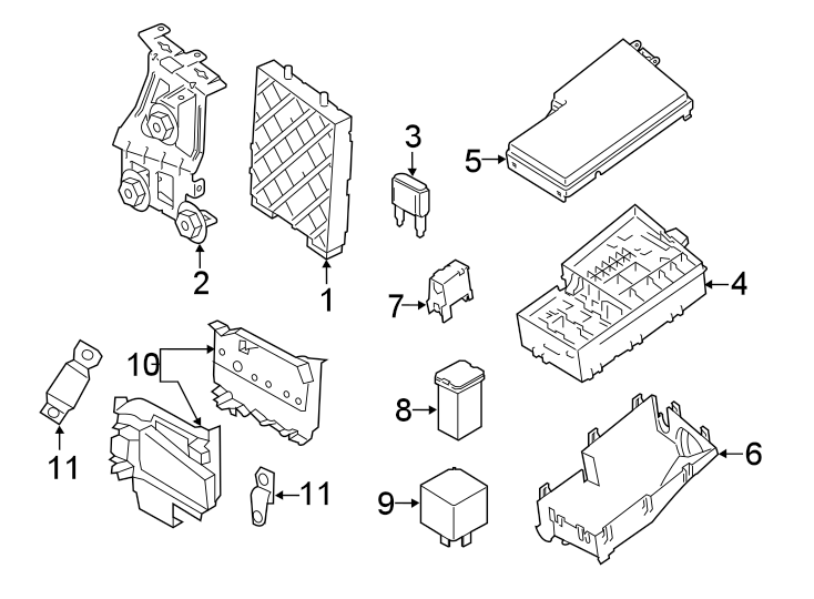 Ford Transit Connect Fuse And Relay Center  Circuit Breaker Assembly  Fuse And Relay Center