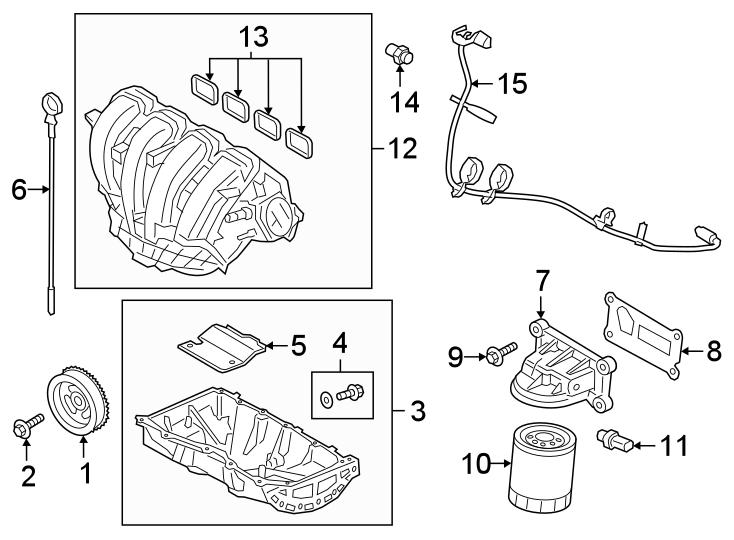 Ford Transit Connect Engine Intake Manifold Gasket  2 0