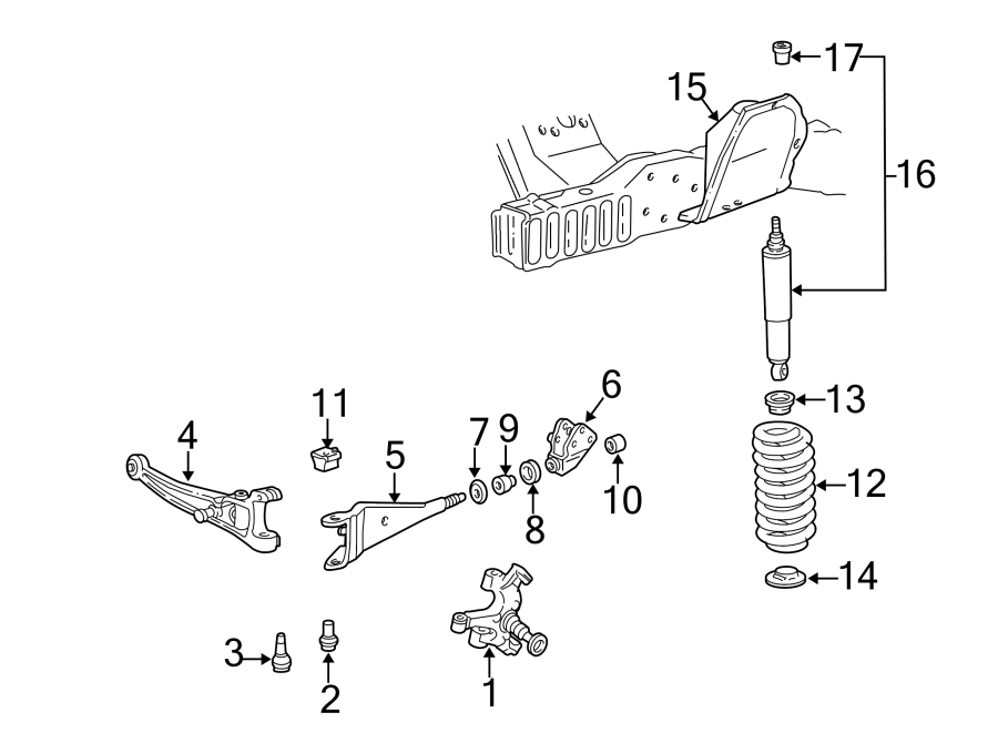 Ford E 350 Front Suspension Parts Diagram