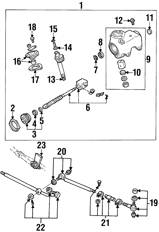 ford e-150 end assembly
