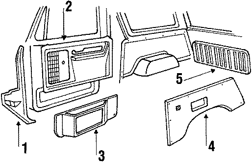 Ford Bronco Cover  Gt Inside Panel Ac  Cover Inner