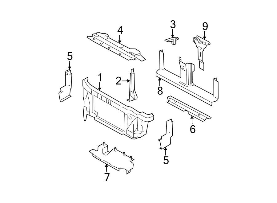 2003 ford expedition support radiator bracket front. Black Bedroom Furniture Sets. Home Design Ideas