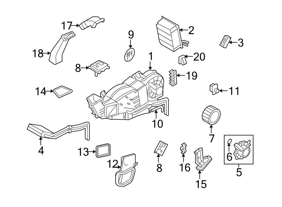 2016 Ford Expedition Blower Motor Resistor  Resistor  Rear