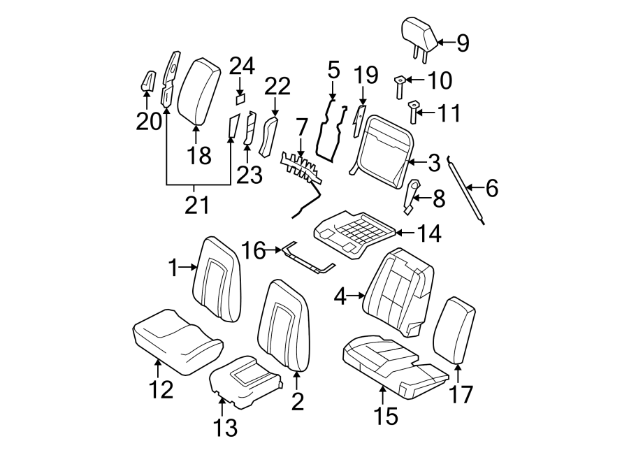 2008 Ford Expedition Headrest Guide  Captain U0026 39 S Seats
