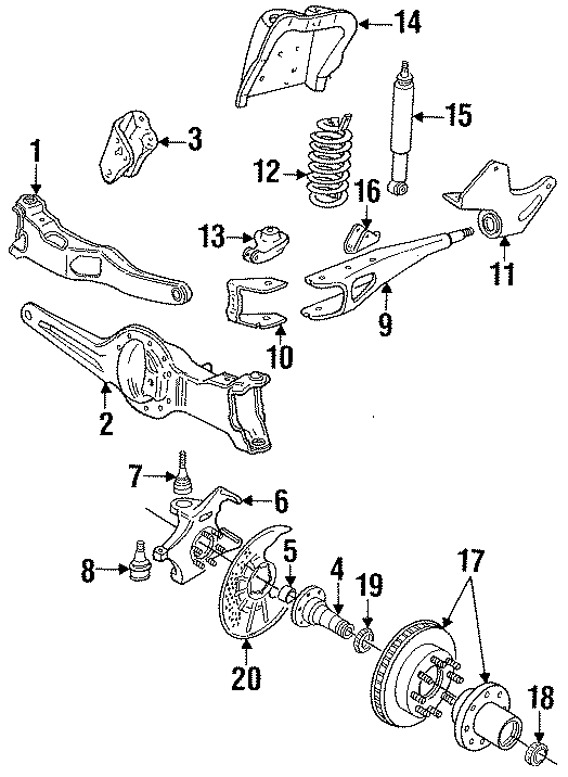 E9tz3b402a - Ford Arm  Axle  Assembly
