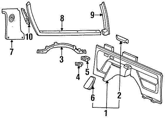 Ford Bronco Quarter Trim Panel  W  Armrest  Right  Interior