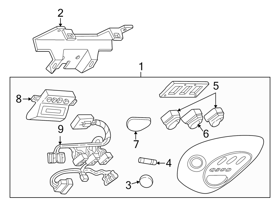 Ford Expedition Wire Harness  Wiring Assembly  Included With  Overhead Console  Overhead