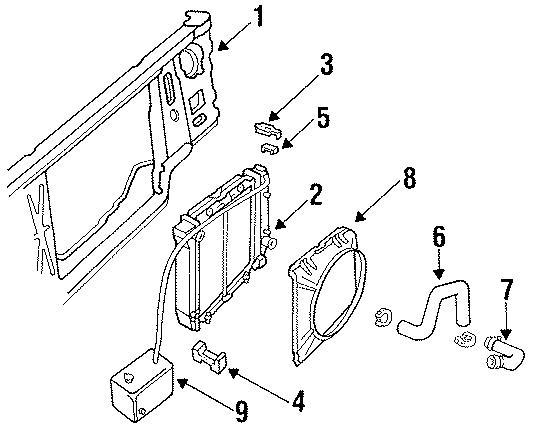 Ford Ranger Radiator Assembly Bracket  Radiator Support