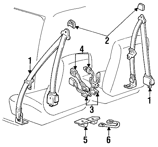 F67z10611b08b Ford Retractor Assembly Seat Belt