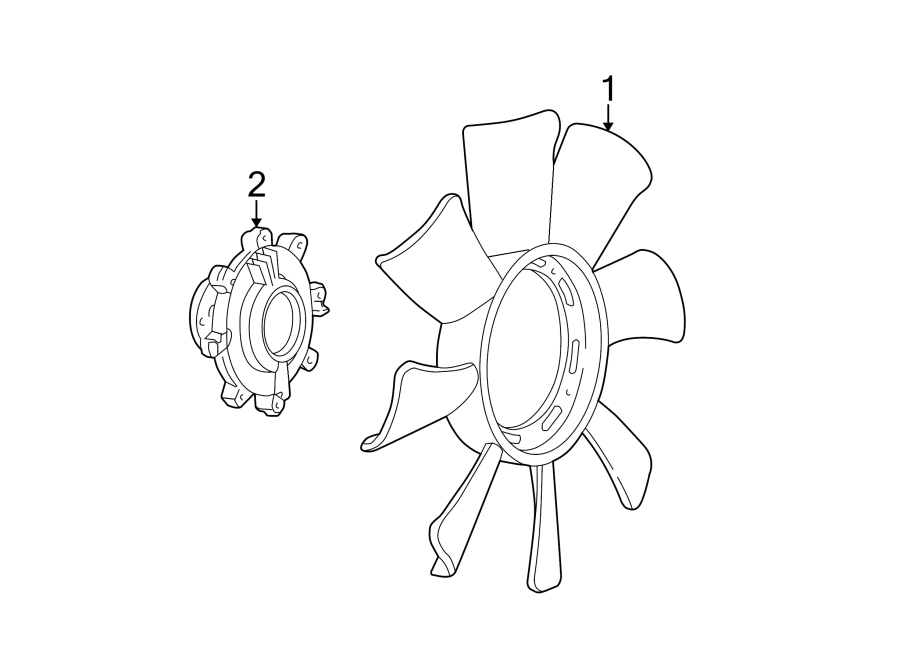 Ford Ranger Engine Cooling Fan Clutch Blade  2 5 Liter  W