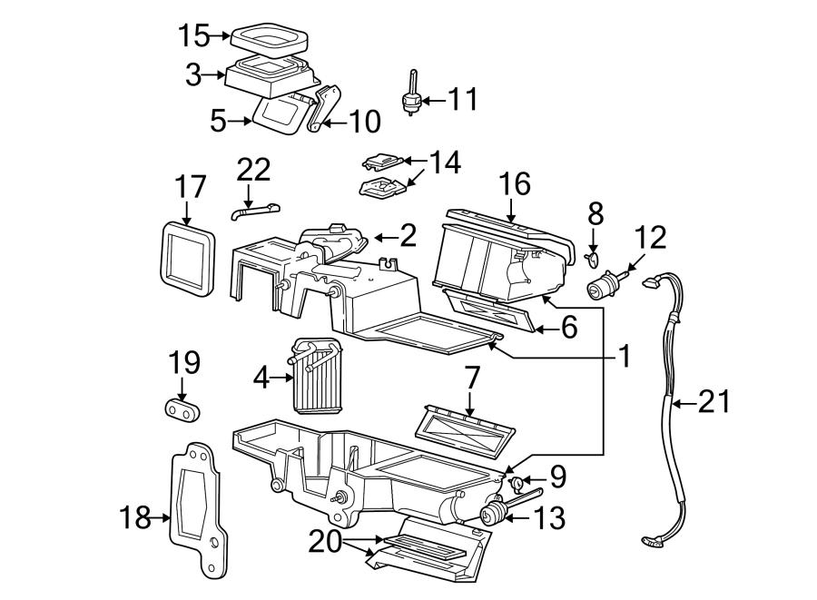 2006 ford ranger hvac heater mode door lever  shaft  air vent  air vent door  exc  floor
