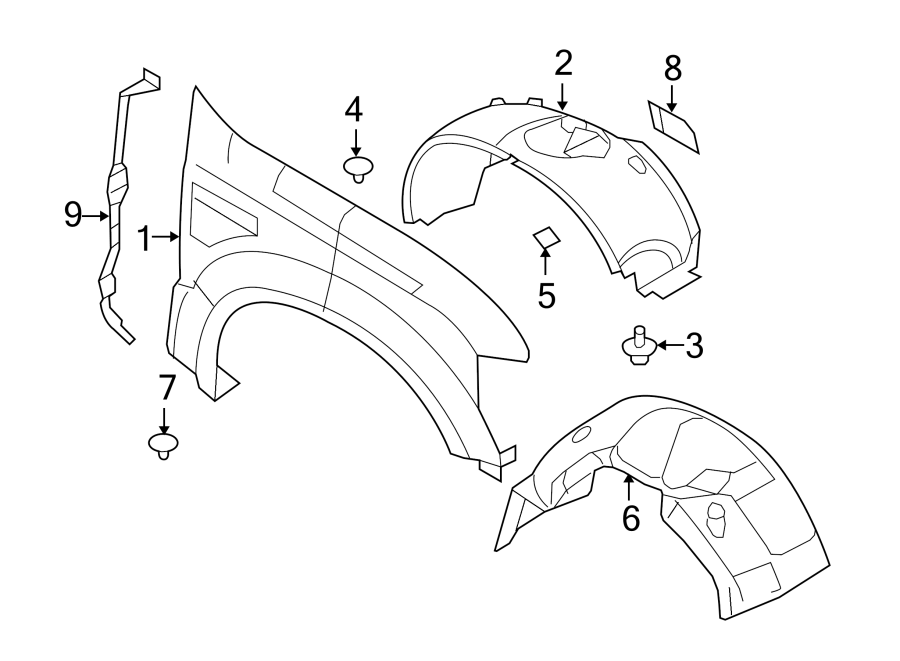 2000 Ford F450 Fender Diagram