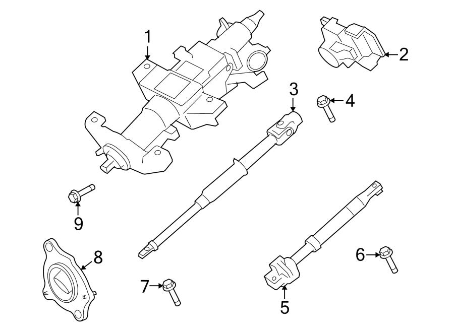 7C3Z3B676C  Ford    Steering    Shaft  Lower  F250 Super Duty