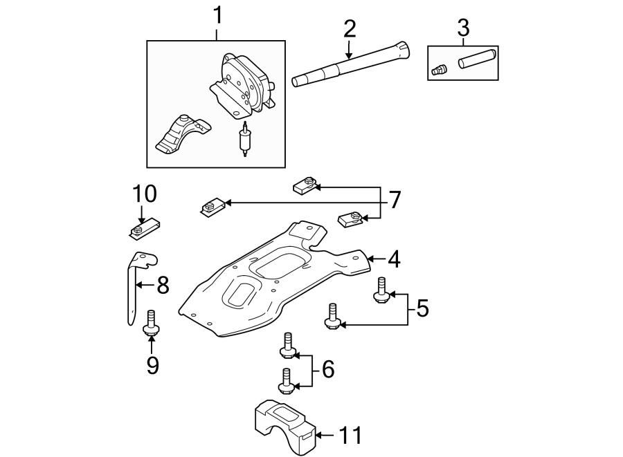 F75z1a380ba - Ford Spare Tire Lock  Lock  Kit