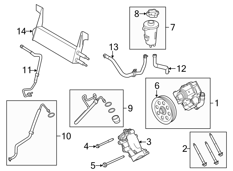 2015 ford f-450 super duty power steering pump