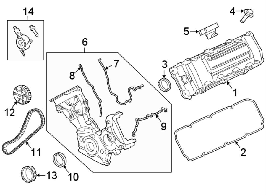 Ford F-250 Super Duty Engine Valve Cover  6 2 Liter