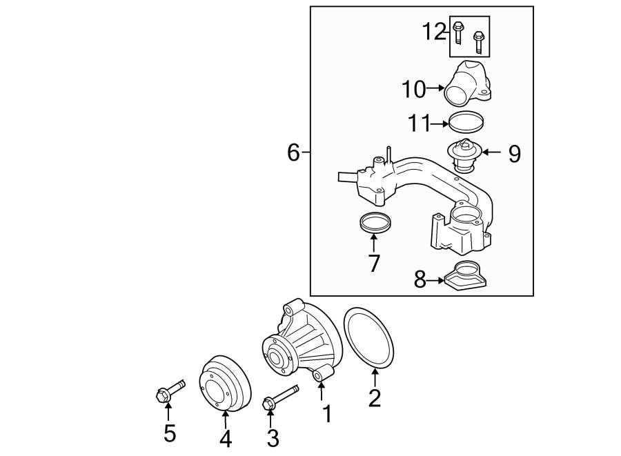 Ford Explorer Engine Coolant Thermostat  Liter  Sohc