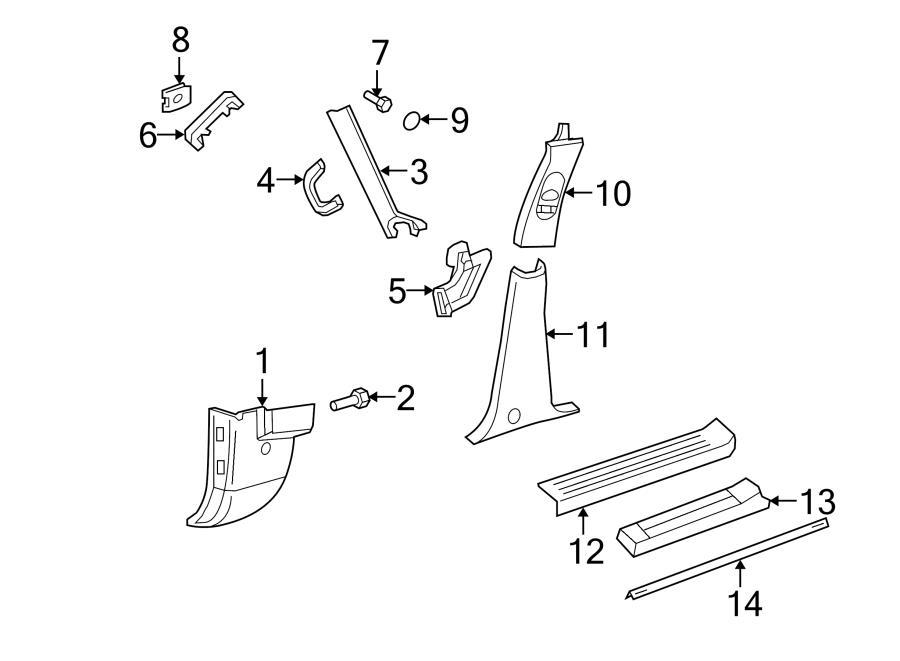 2003 ford explorer cowl trim clip  scuff plate clip  rear