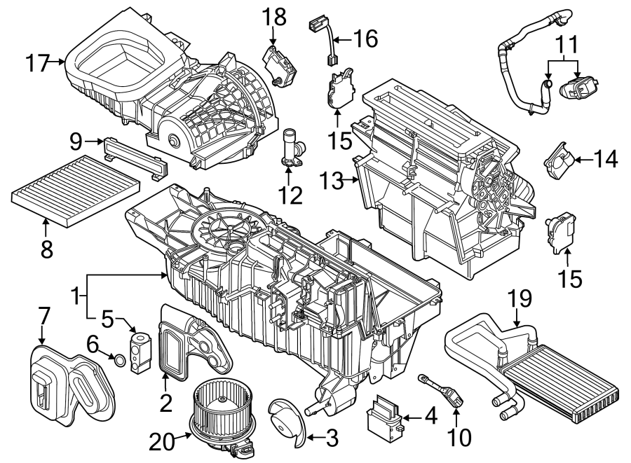 2014 Ford Explorer A  C Evaporator Temperature Sensor  Zone