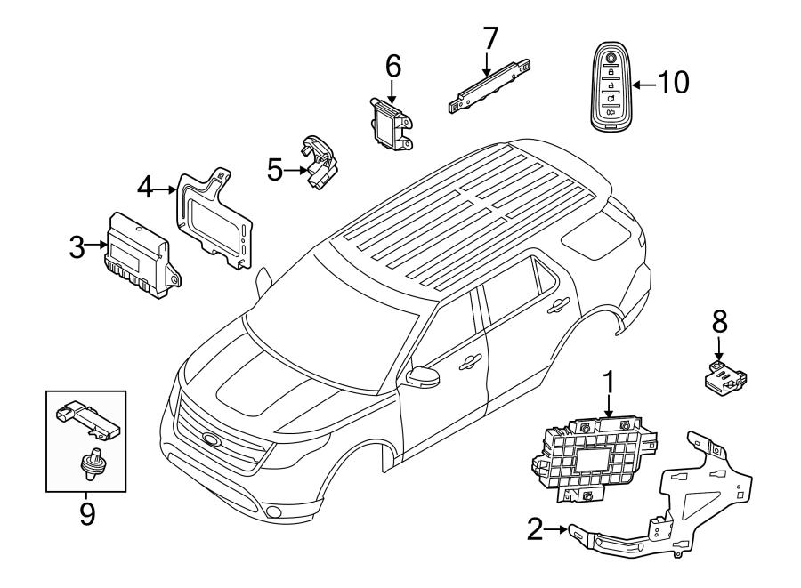 2015 Ford Police Interceptor Utility Control Module  Power