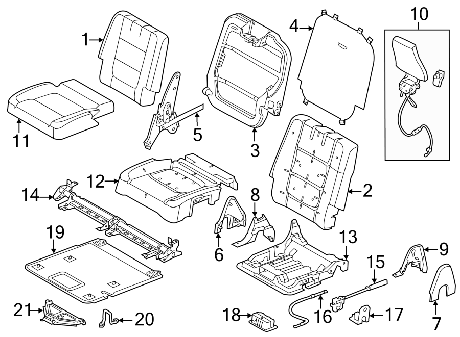 2014 Ford Explorer Seat Frame Trim Panel  Lower