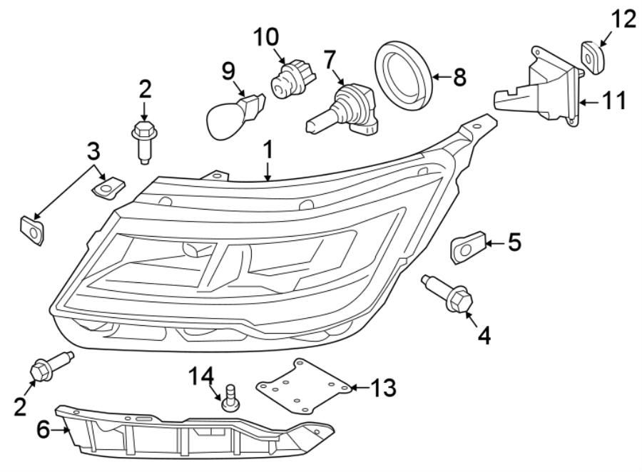 2016 Ford Explorer Headlight  Full  Led  Lamps