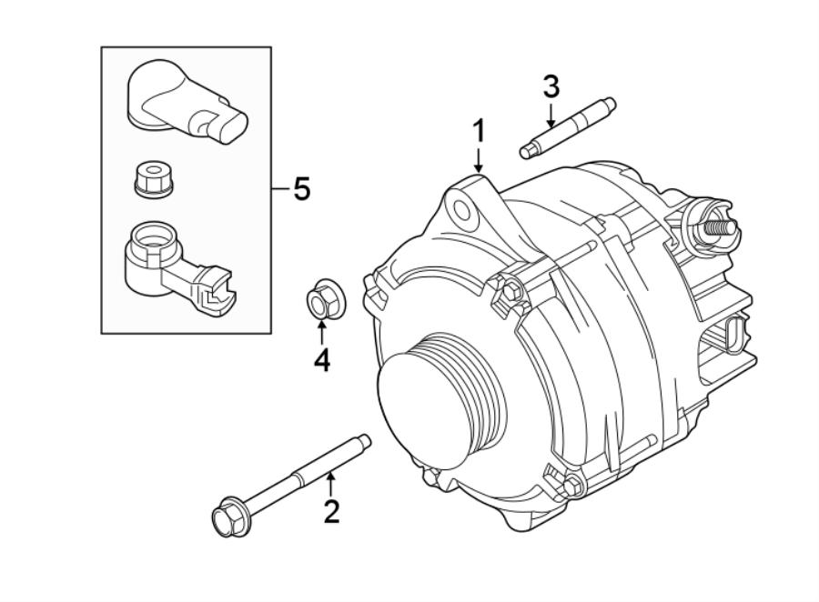2016 Ford Explorer Alternator  Amp  Battery  Liter