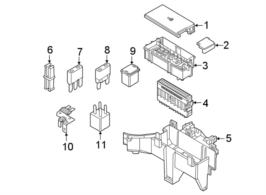 fu5z14a067a - ford fuse holder  box assembly