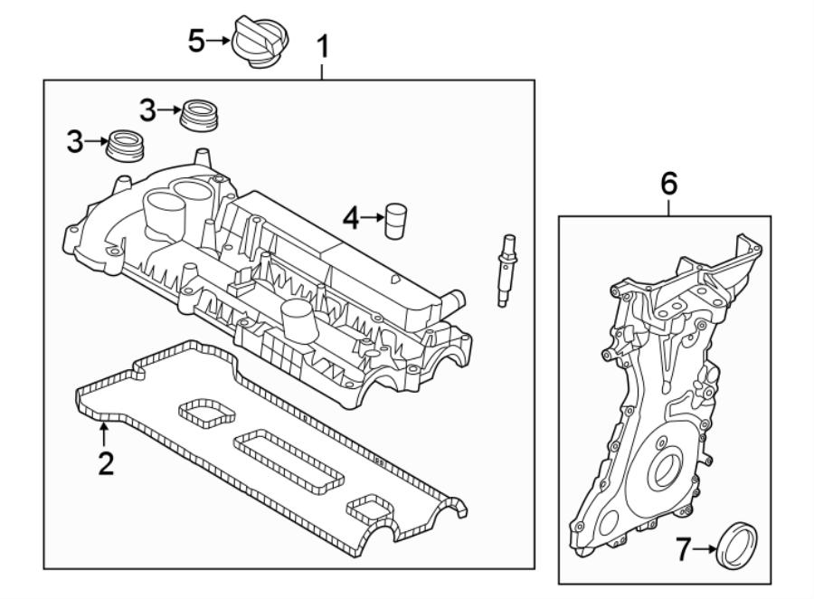 2016 Ford Explorer Engine Valve Cover Gasket  Liter