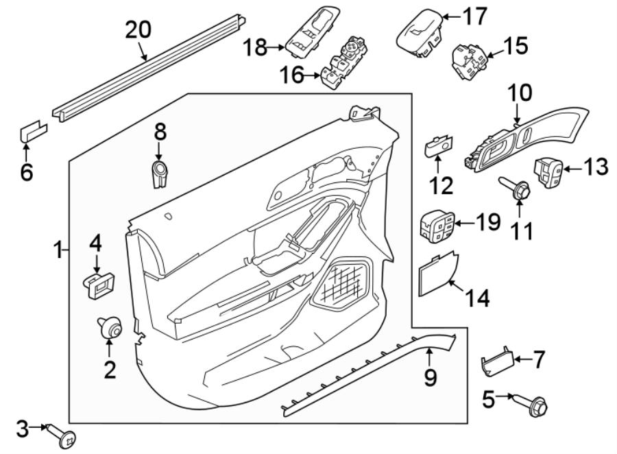 2016 ford explorer interior door handle  rear   interceptor  inside  blind