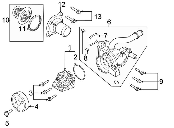 Ford Explorer Thermostat  Gasket  Engine  Coolant