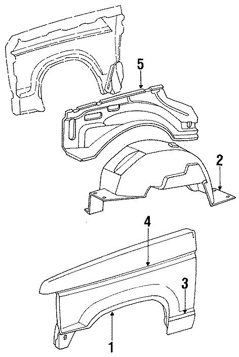 Ford Bronco Ii Apron Panel  Wheelhouse  1984