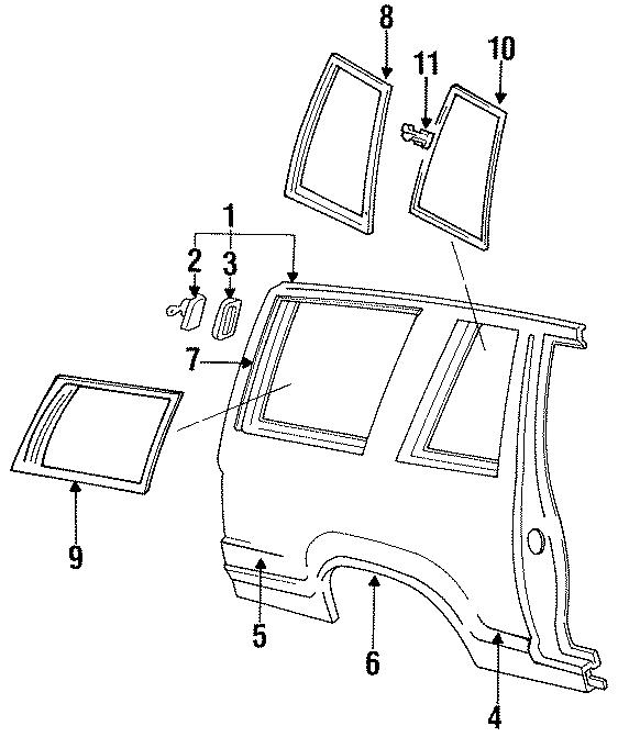 Ford Explorer Body Side Molding  Moulding  2 Door  Xl