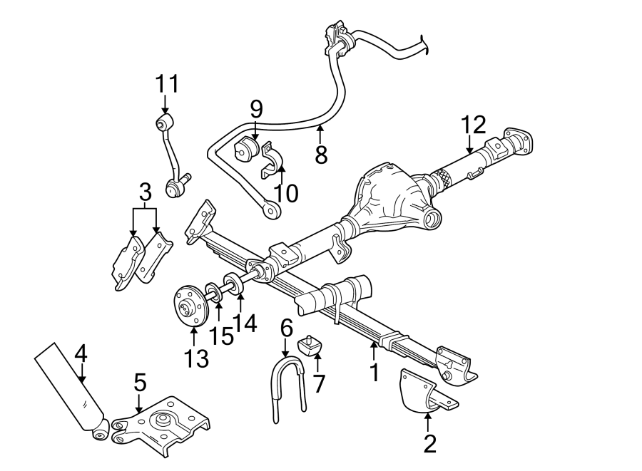 Ford Explorer Drive Axle Shaft  Rear   Suspension  Left