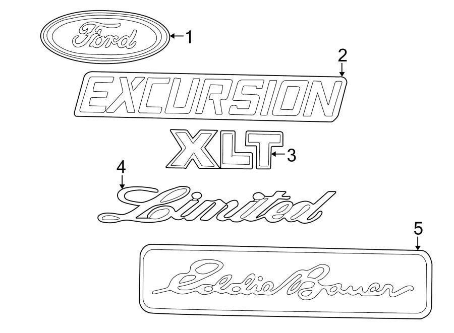 Ford E-450 Econoline Super Duty Emblem