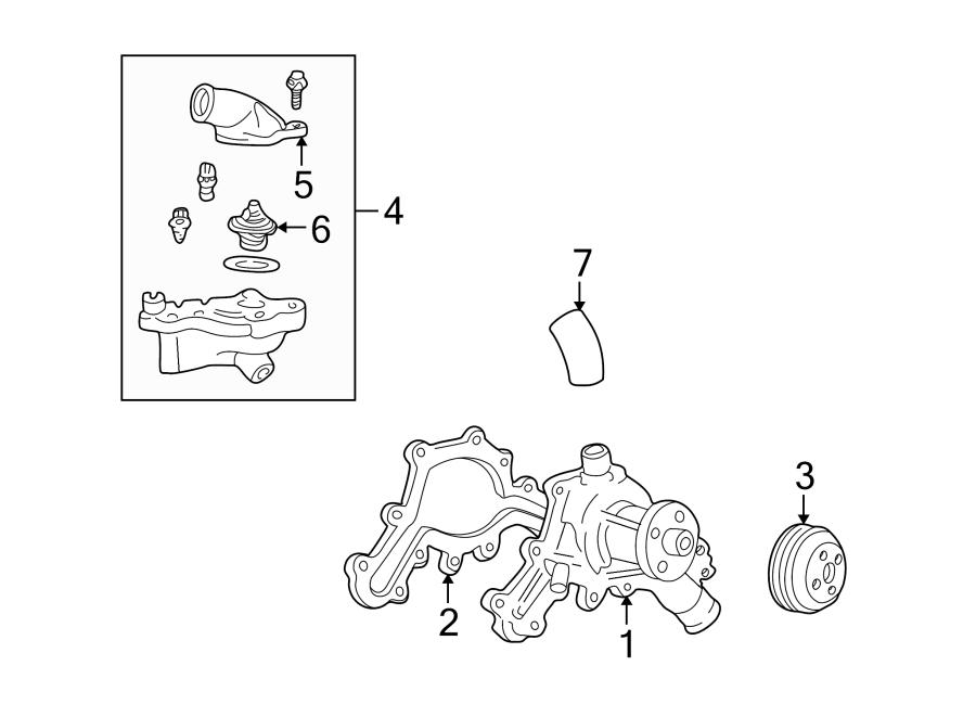 Ford Explorer Engine Coolant Thermostat Kit  Water  Pump  Cooling