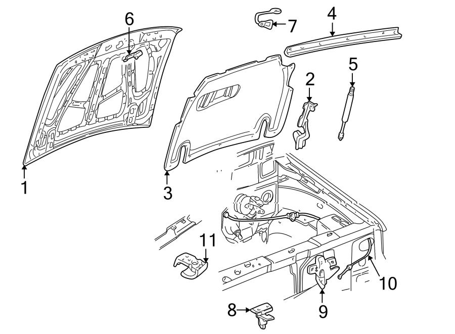 Wiring Diagram  30 1998 Ford Explorer Hood Latch Diagram
