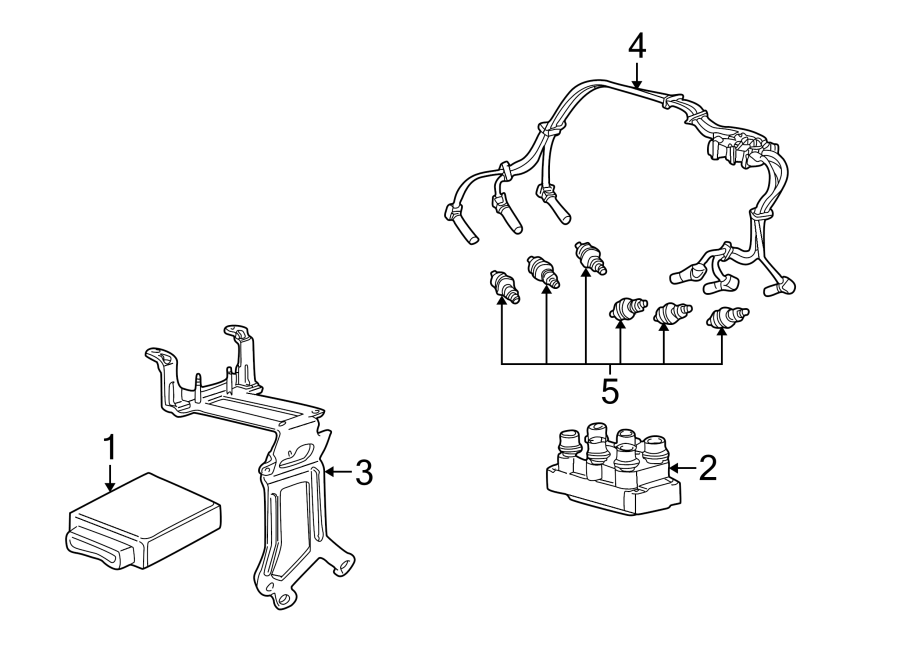 Ford Explorer Spark Plug Wire Set. LITER - 5U2Z12259C ...