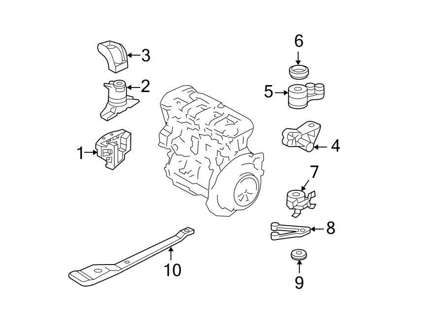 Ford Escape Mount  Transmission  Insulator   Front   2 3