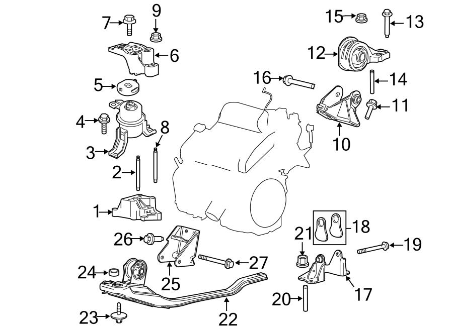 Ford Escape Engine Mount Bracket  3 0 Liter  2005